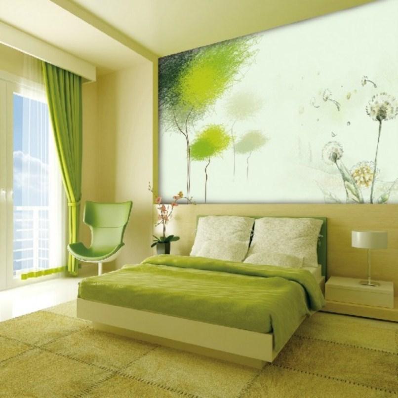 accent light green room - design on vine