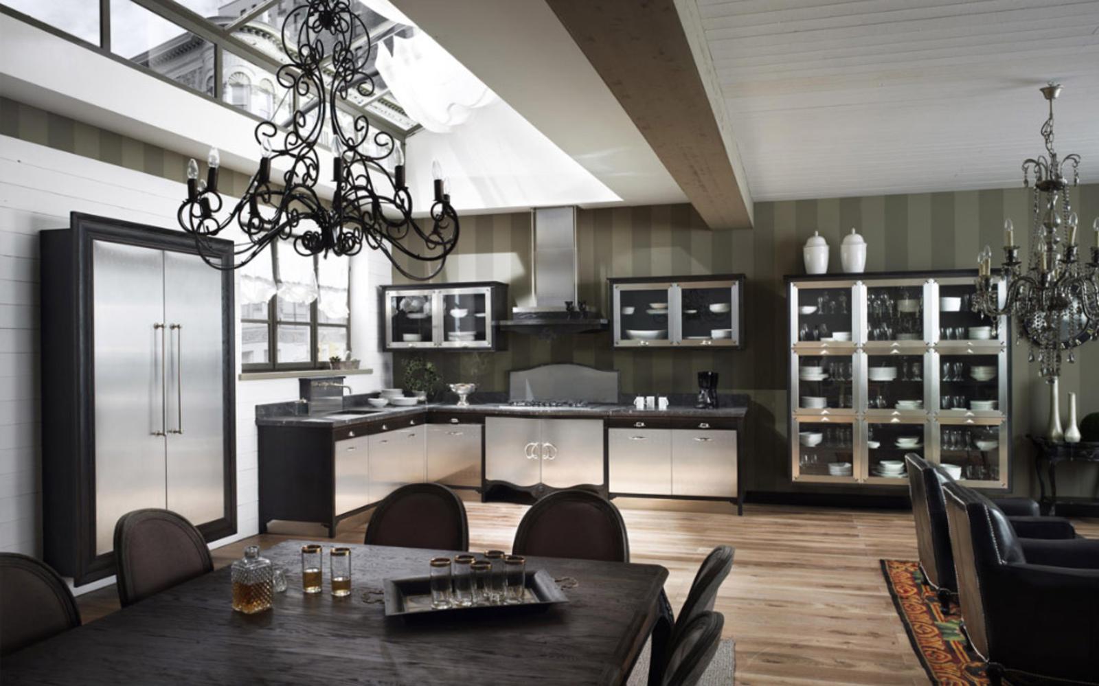 Modern classic kitchen interior design on vine for Modern classic design interior