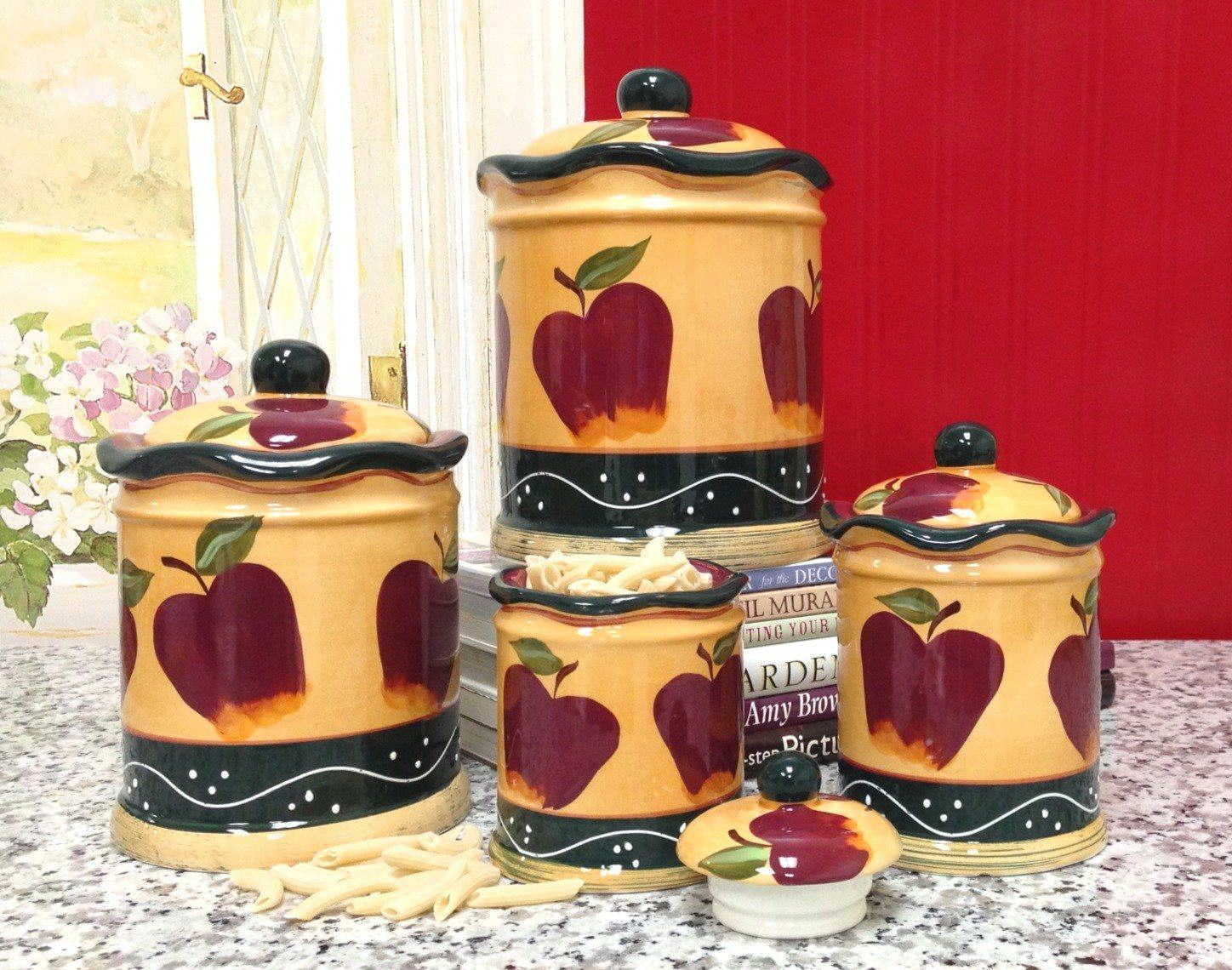 Apple kitchen decor sets design on vine for Apple kitchen decoration set
