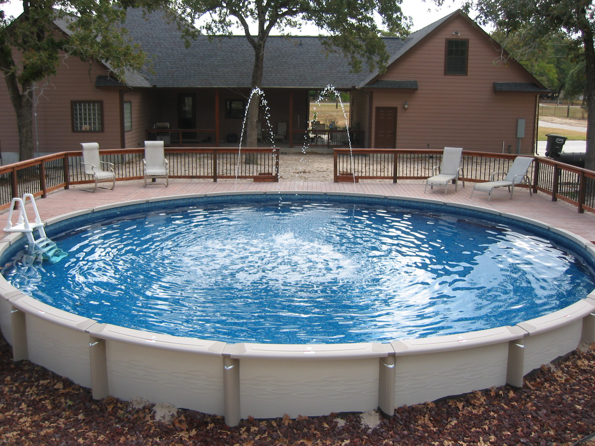 Best above ground swimming pools design on vine for Above ground pool designs