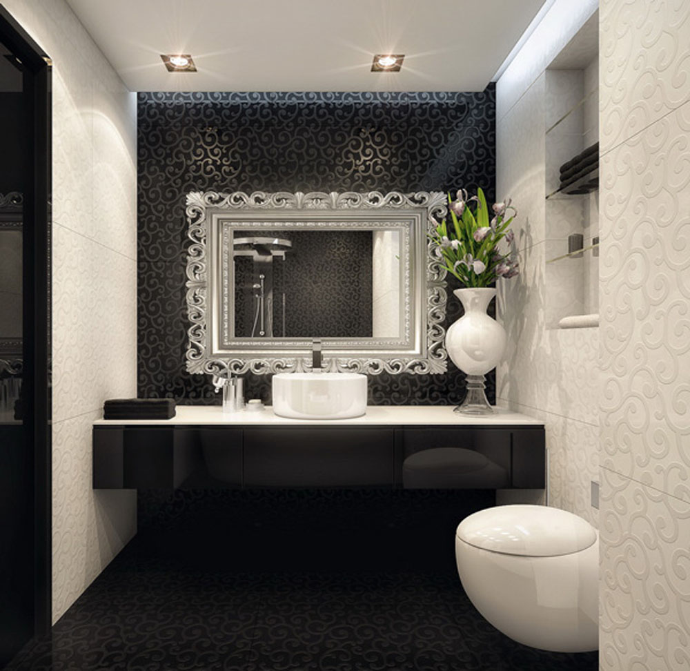 Ideas For Black And White Bathroom Part - 20: Black And White Bathroom Ideas WyWF