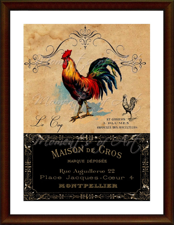 Country Rooster Kitchen Decor Woqh
