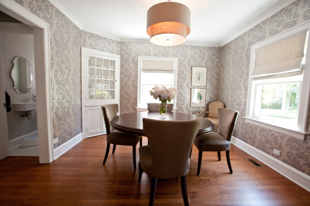 Damask Wallpaper Dining Room IrlJ