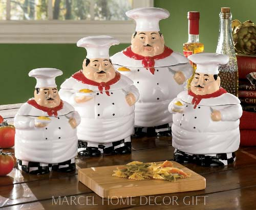 Elegant Fat Chef Kitchen Decor UcIj