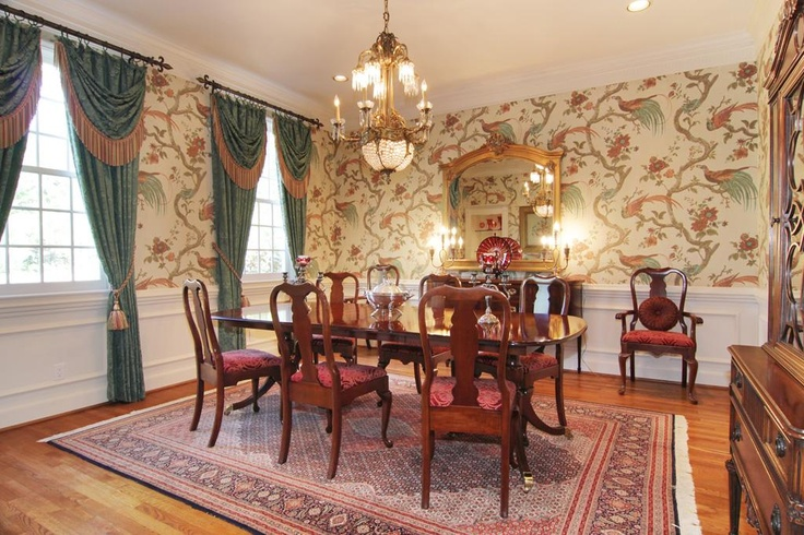 Formal Dining Room Wallpaper