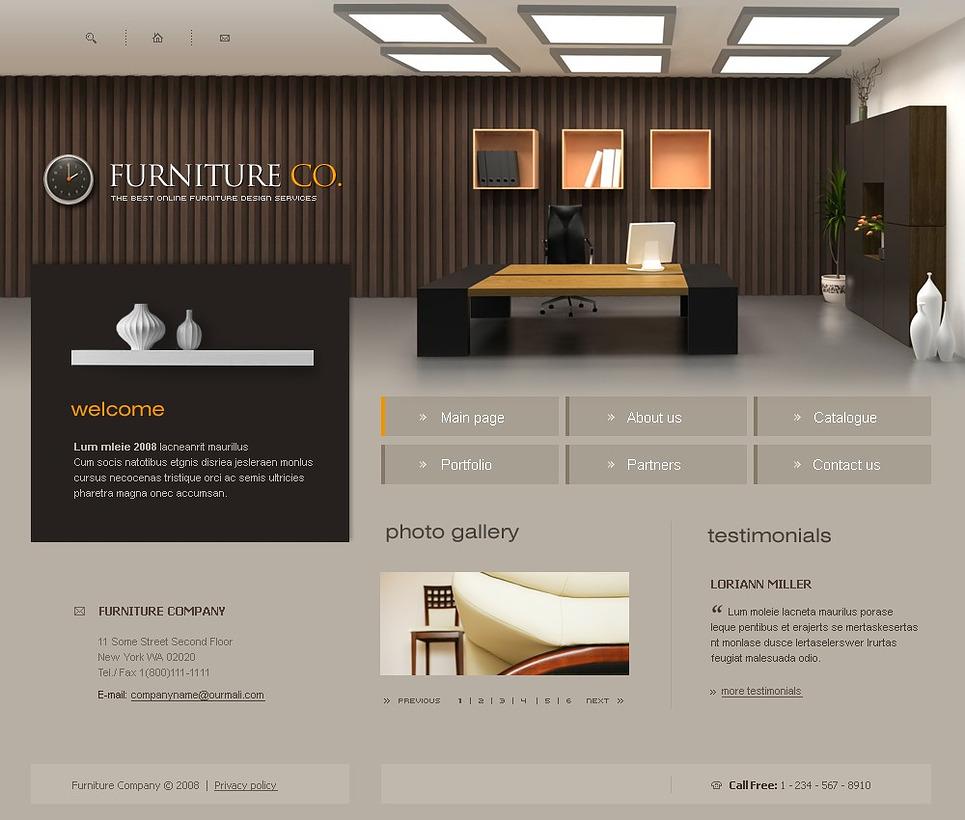 Furniture Website Design JldE