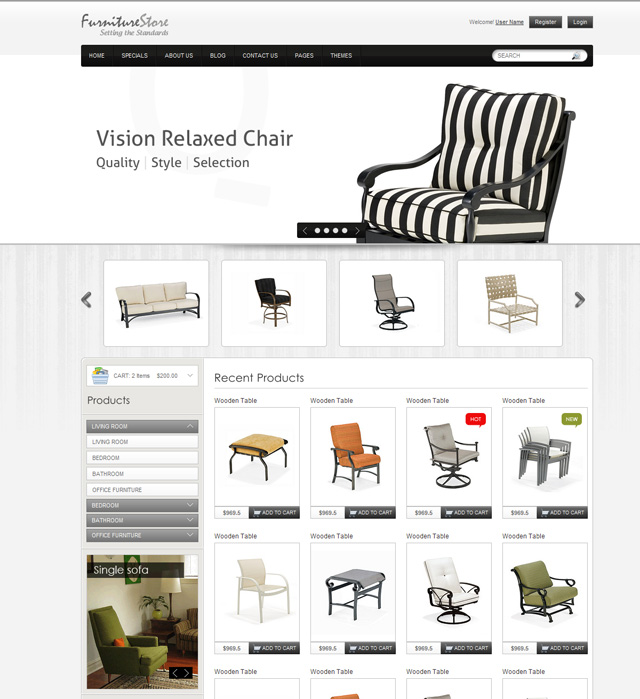 Charmant Furniture Website Design YrbB