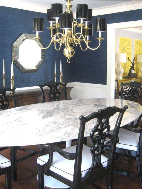Grasscloth Wallpaper Dining Room Design On Vine