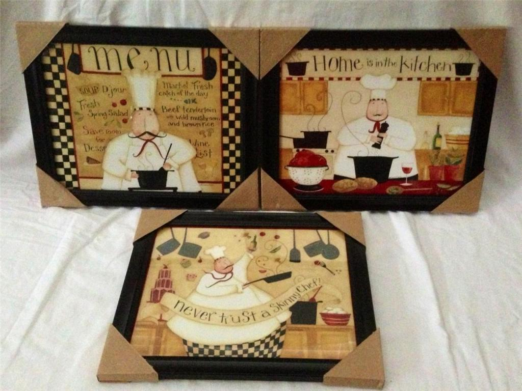 Black Fat Chef Kitchen Decor