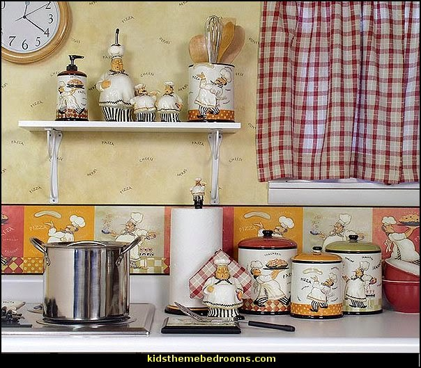 Italian fat chef kitchen decor design on vine for Chef kitchen decor ideas