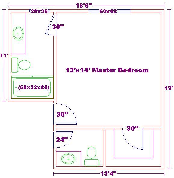 Master bedroom bathroom designs goxj design on vine for Master bedroom and bath plans