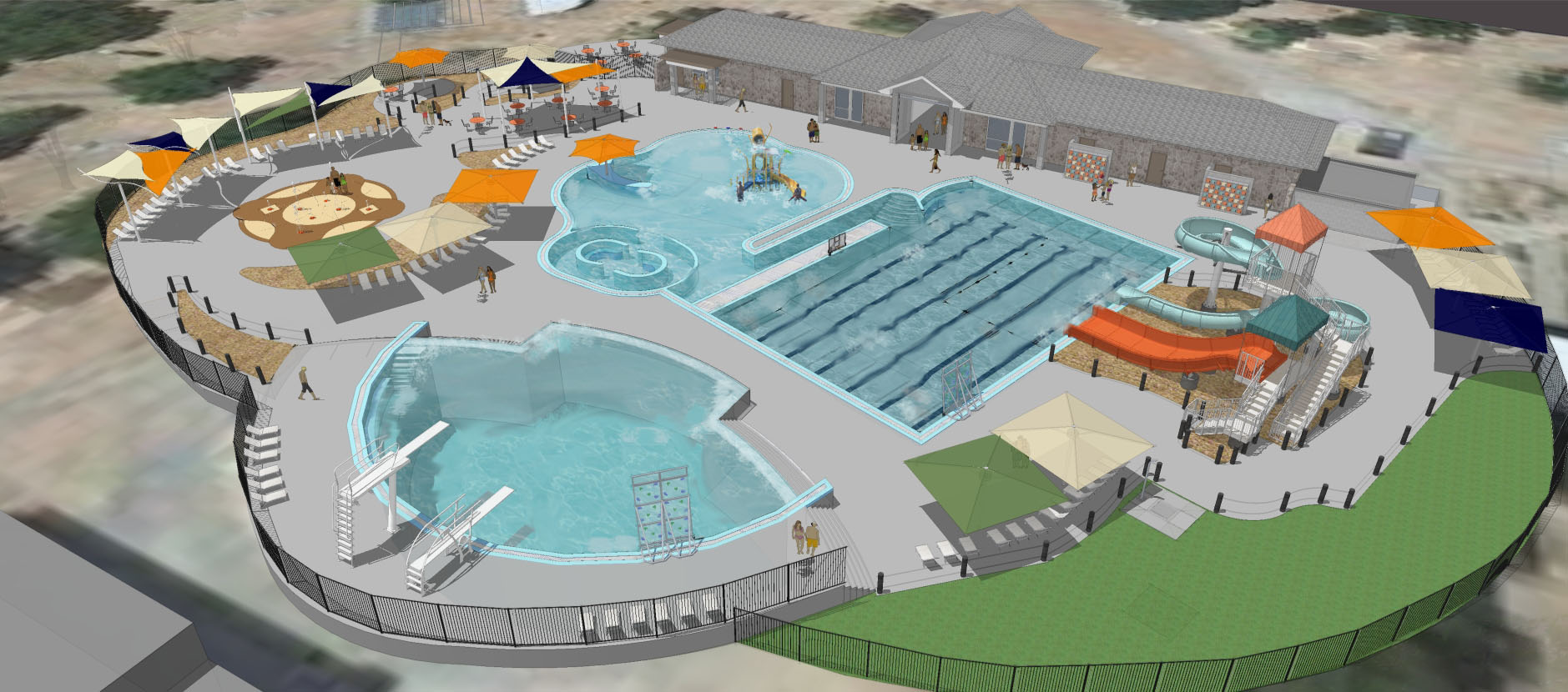 New parks swimming pool vlpn design on vine for New swimming pool