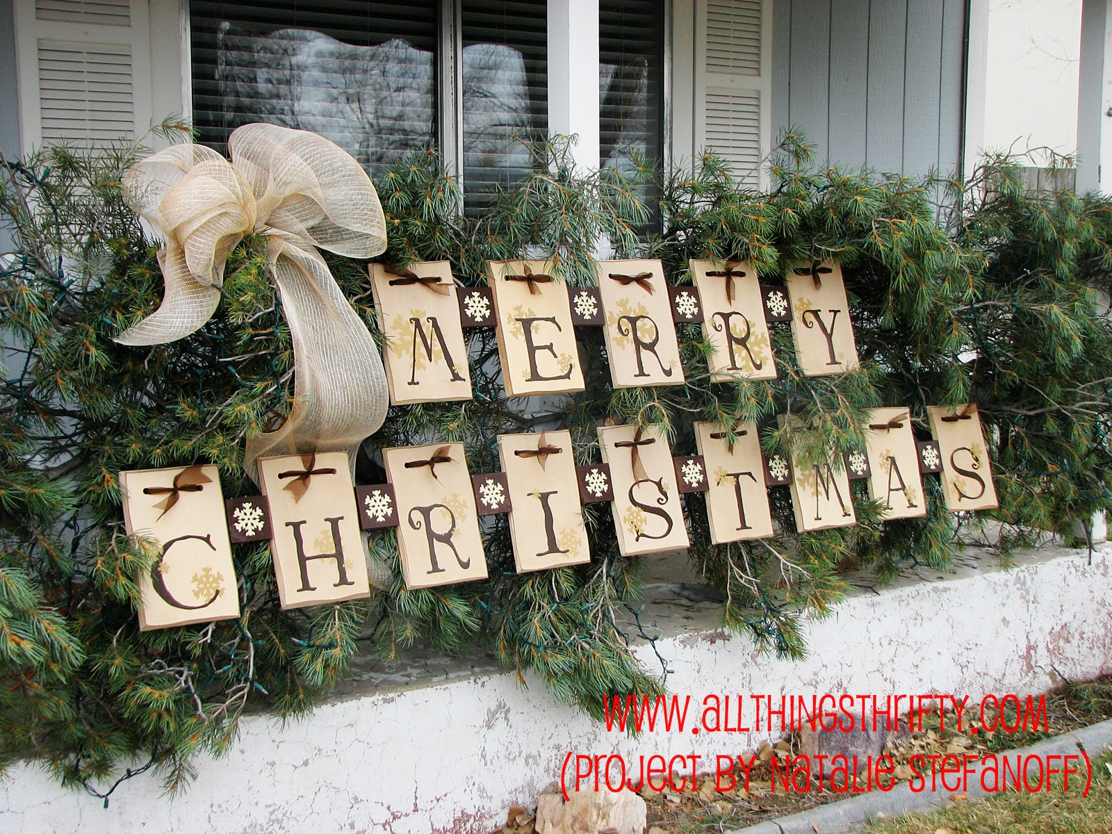 Delightful Outdoor Decorating Ideas For Christmas WRwm