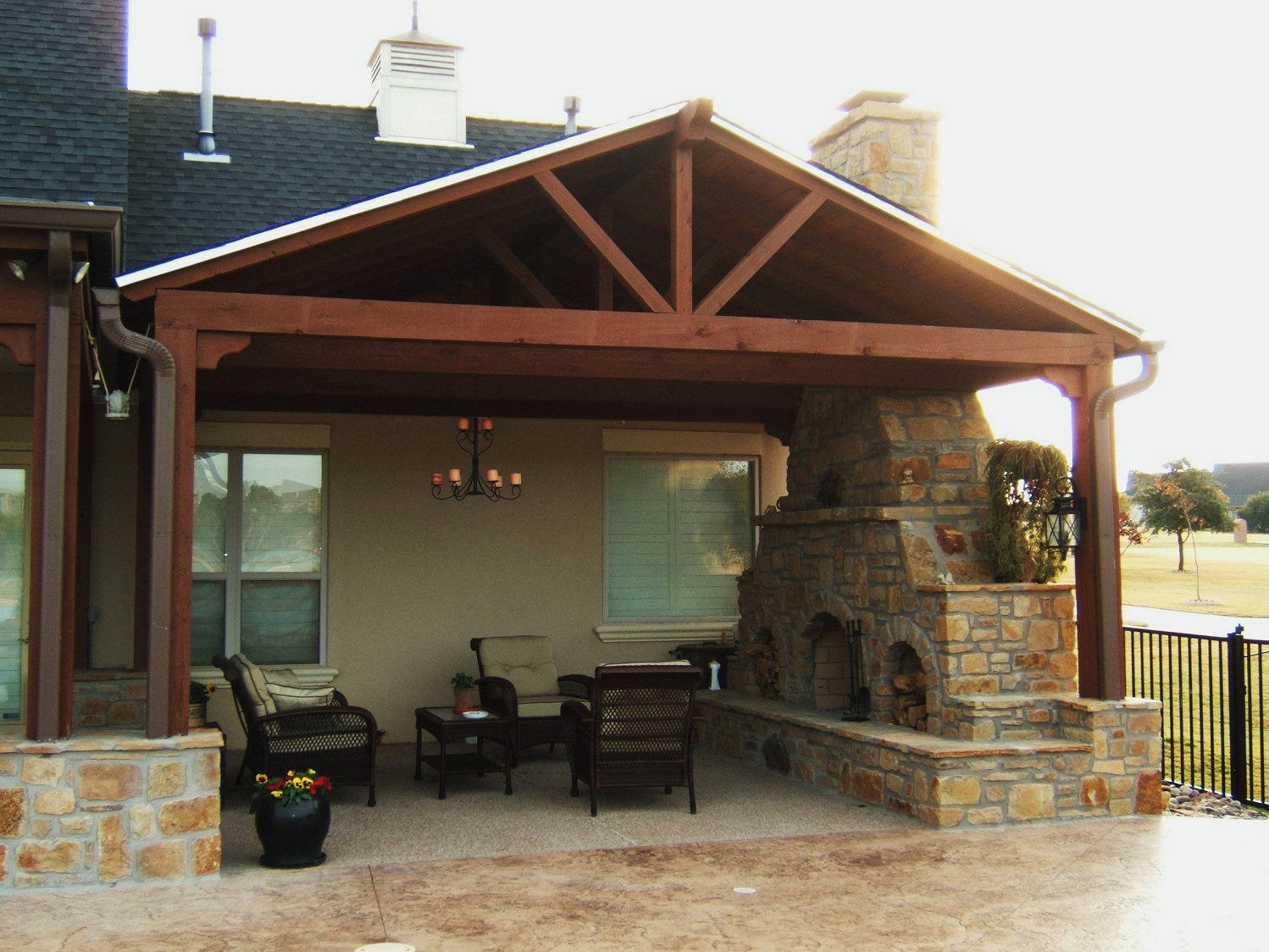 Outdoor patio cover ideas dixq design on vine for Patio cover ideas designs
