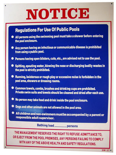 Swimming Pool Rules And Regulations Xafz Design On Vine
