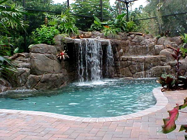 swimming pools in houses lqad - Cool Pools With Waterfalls In Houses