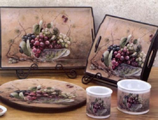 Delightful Wine And Grape Kitchen Decor KGBF