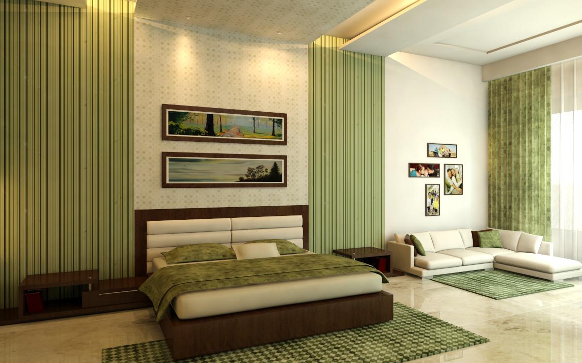 . bedroom design ideas using green concept   Design On Vine