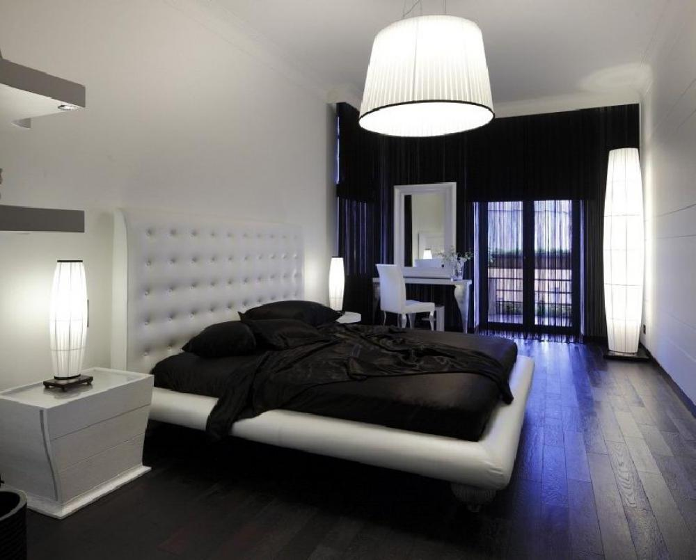 Black and white combination of furniture and walls - Design ...