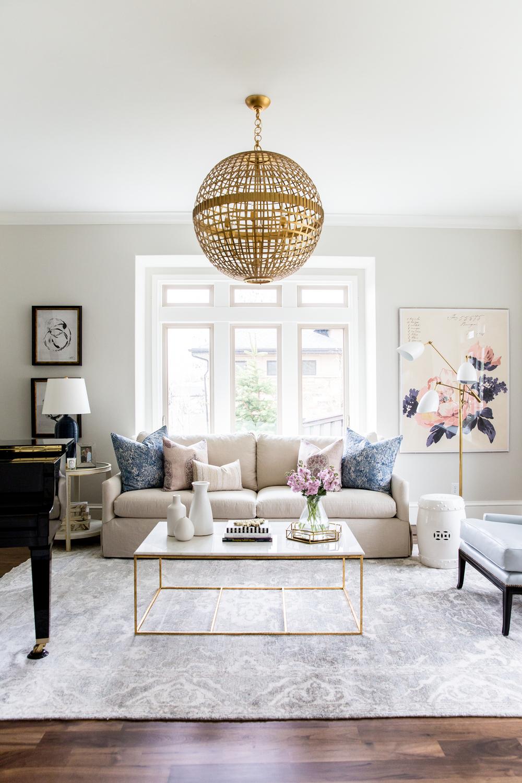 minimalist formal living room - Design On Vine